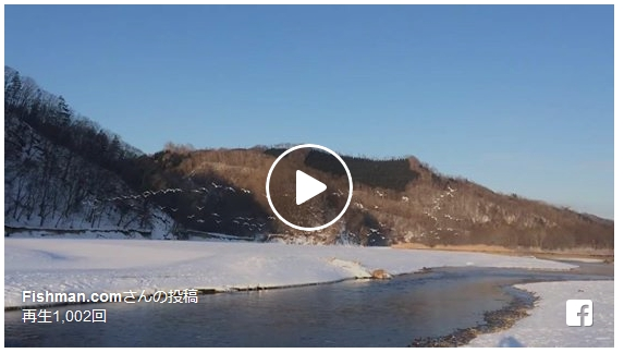 積雪の少ないエリアなら真冬でも渓流釣りが楽しめるんですよね