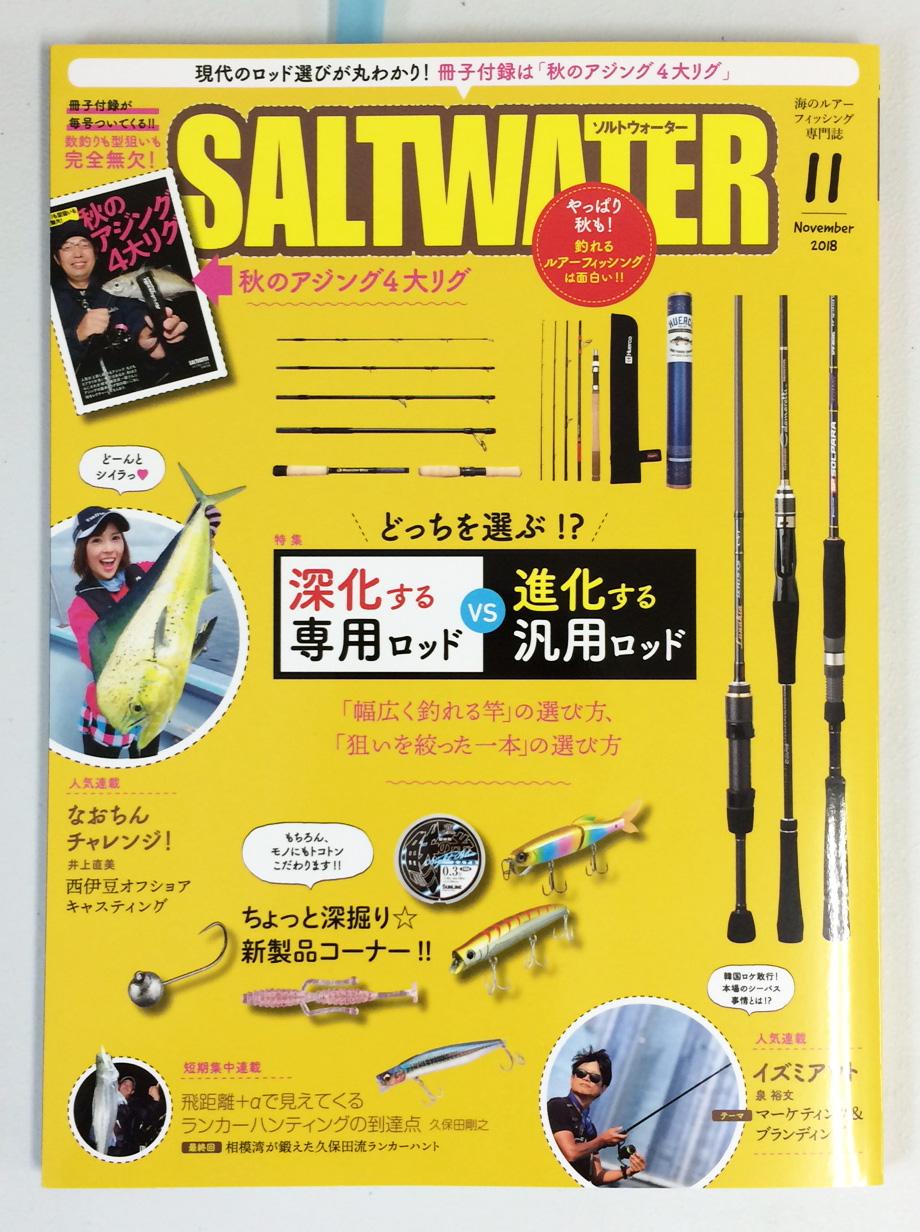 SALTWATER 11月号にBC4 5.10MXH・6.10XHが紹介されています。