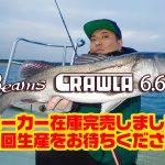 Beams CRAWLA6.6L+のメーカー在庫が完売致しました。