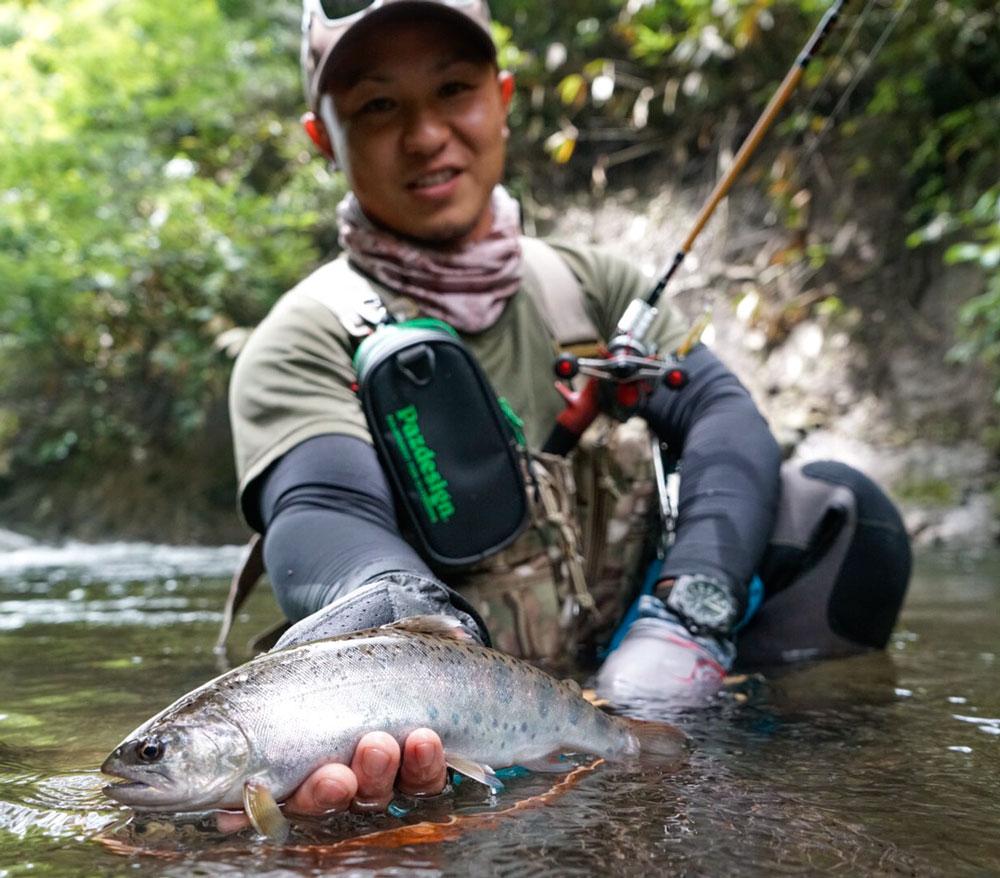 梅雨時期のヤマメ釣行