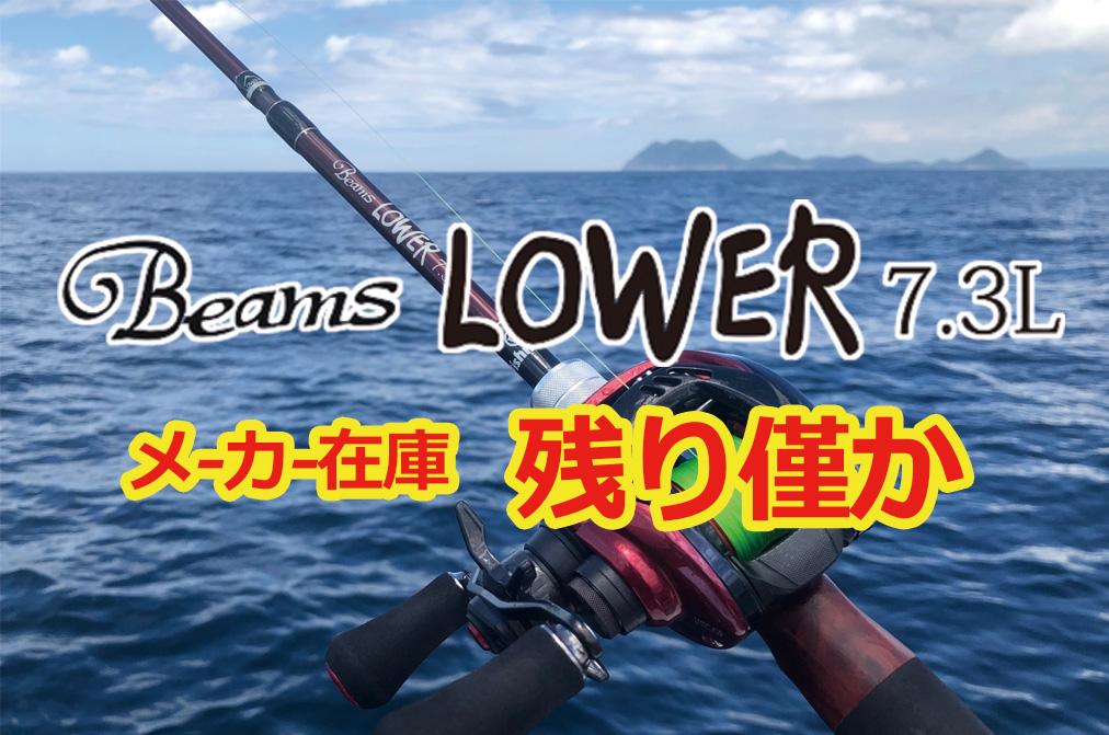 Beams LOWER7.3Lメーカー在庫残りわずか!